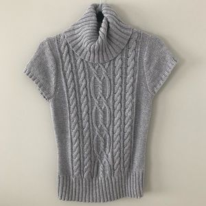Willi Smith Short Sleeve Cable Sweater